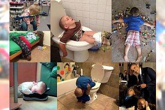 ACH TE DZIECI! Oto 40 zdjęć, które udowadniają, że dzieci są w stanie zasnąć dosłownie WSZĘDZIE! Tego jeszcze nie było!