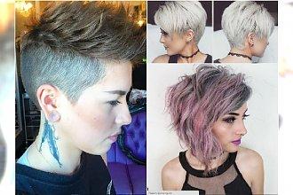 Krótkie fryzury w rockowym stylu: z grzywką, undercut, z irokezem