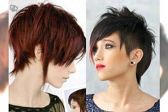 Krótkie fryzury dla chłopczycy: wygolone boki, irokezy, nastroszone grzywki