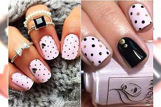 Pudrowy róż i groszki na paznokciach - słodziej być nie może! 20 najpiękniejszych wzorów na lato