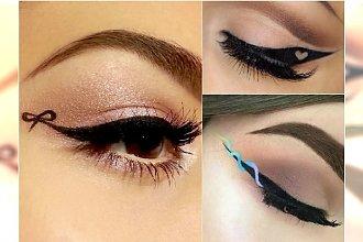 """Ribbon eyeliner i """"szalone kreski"""" - nowe trendy w makijażu na Instagramie"""