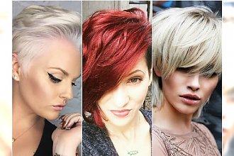 Krótkie fryzury 2017 - modne cięcia z grzywką, irokezem, undercut