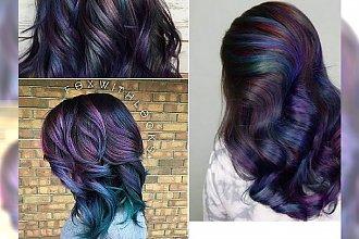 HIT JESIENI 2016: Oil Slick Hair, czyli koloryzacja imitująca.... barwę rozlanego paliwa!