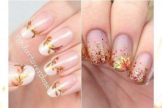 Jesienny manicure nude - 20 fantastycznych wzorów dla wielbicielek naturalnego efektu