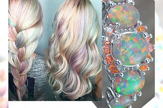 Opal hair - delikatny, tęczowy odcień niczym z bajki