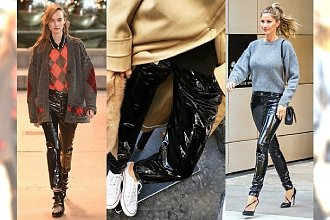 Spodnie vinyl to najgorętszy trend tego sezonu! Zakochasz się w tym blasku. Jak je nosić?
