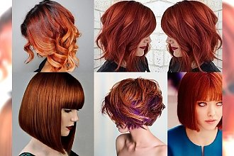 Ginger bob - mnóstwo inspiracji niesamowicie temperamentnej fryzury