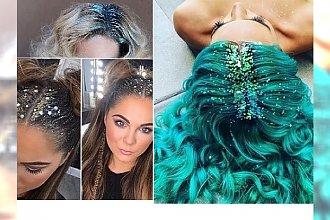 Glitter Hair - mieniące się włosy hitem Instagrama. Wypróbuj je na Sylwestra!