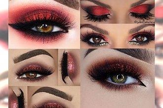 Makijaż oczu w kolorze... czerwonego wina. Robi wrażenie, prawda?