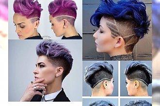 Stylowe cięcia dla odważnych: wygolone boki i kolorowe włosy to hit przyszłego roku!