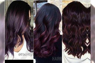 Modne kolory włosów 2016/2017: bakłażan, śliwka, burgund