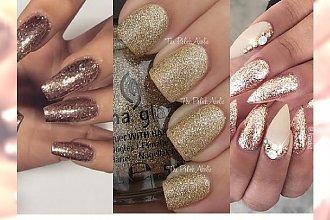 Złoty manicure - idealny na wigilię i Sylwestra!