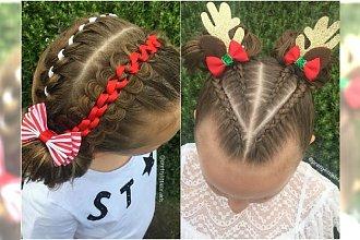 Fryzury dla dziewczynek na mikołajki, święta i zabawy choinkowe