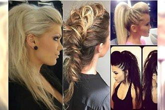 Fryzury na sylwestra - irokez z długich włosów w wersji eleganckie i rockowej