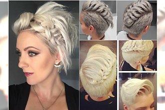 Krótkie włosy z warkoczykiem - idealna fryzura na sylwestra! Zobaczcie najlepsze inspiracje