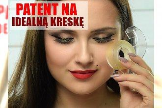 Patent na idealną kreskę z użyciem TAŚMY! Klasyczny makijaż na sylwestrową noc