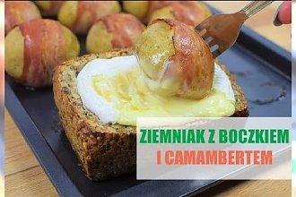 Pieczone ziemniaki z boczkiem i camembertem
