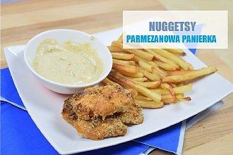 Nuggetsy z kurczaka w panierce z parmezanu