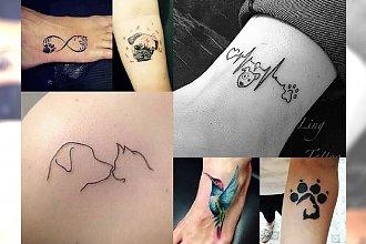 Cudne tatuaże dla osób kochających zwierzęta. 20 perełek, które przypomną Ci o Twoim pupilu!
