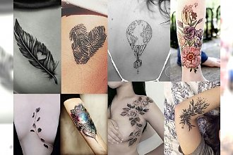 30 pomysłów na niesamowicie kobiecy tatuaż! Poznaj najnowsze trendy 2017!