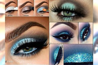 Ice eye make up - zimowy