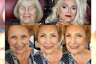 Te makijażowe metamorfozy babć pokazują prawdziwą siłę makijażu! Piękne