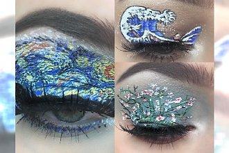 Ten makijaż to wyższa szkoła jazdy! 16-latka maluje na powiece prawdziwe OBRAZY! Piękne
