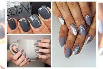 Grey manicure na dobre zagościł na naszych paznokciach! Duża galeria inspiracji
