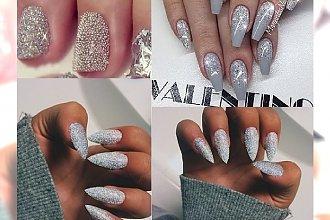 Sparkly Silver Manicure - olśnij wszystkich błyszczącymi paznokciami
