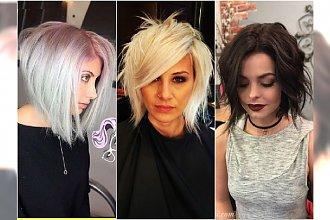 Cieniowane fryzury półdługie - modne cięcia z grzywką, bob, asymetryczne