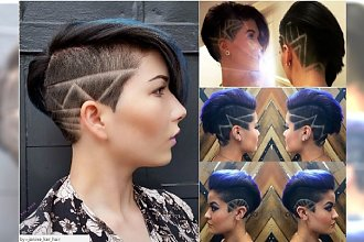 Krótkie fryzury 2017 - wycinamy modne wzorki na włosach!
