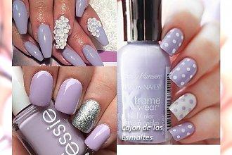 Liliowy manicure - delikatność, której potrzebujemy zimą