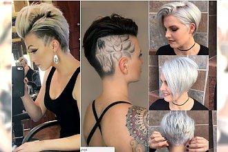 Krótkie fryzury 2017 - modne fryzury z grzywką, asymetryczne, z irokezem