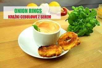 Onion rings z serem - świetna przekąska na każdą imprezę!