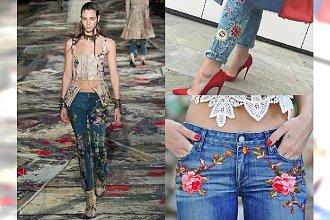 Jeansy haftowane w kwiaty: przygotuj się już teraz na wiosnę 2017. Nr 3 piękne!