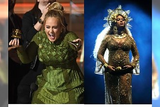 GRAMMYS 2017: Adele ŁAMIE statuetkę w hołdzie Beyonce!