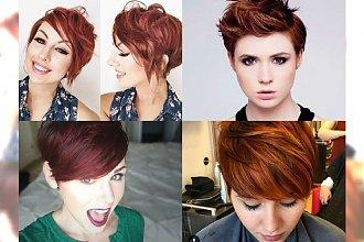 Drapieżne pixie we wszystkich odcieniach rudego - stylizacja, która odejmuje lat