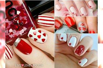 Ekspresowy manicure na walentynki - łatwe wzory, które zrobisz sama