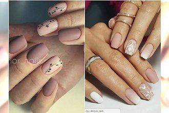 Matowy manicure nude w najmodniejszym wydaniu - 20 HITÓW na wiosnę!