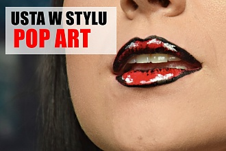 Make up usta w stylu pop art