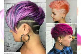 Krótkie fryzury damskie - modne i ciekawe cięcia z grzywką, asymetryczne, z irokezem