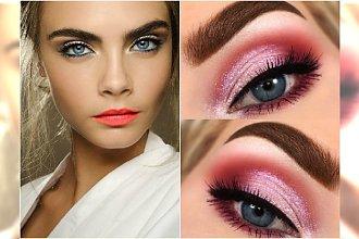 Wiosenny makijaż dla niebieskich oczu - 20 modnych propozycji