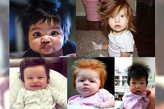 Jak to w ogóle możliwe?! Poznaj kilkumiesięczne maluchy z burzą włosów na głowie! [NIEWIARYGODNE!]