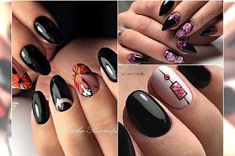 Czarne paznokcie w wiosennej odsłonie - najpiękniejsze wzory