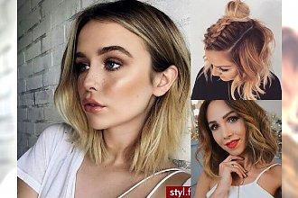 Fryzurki dla półdługich włosów! Galeria fryzjerskich trendów 2017!