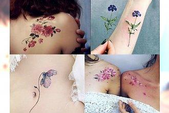 Kochacie ten motyw! Bardzo modne i kobiece kwieciste tatuaże - CUDEŃKA!