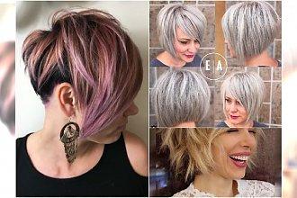 Krótkie fryzury dla kobiet 40, 50 lat. Modne cięcia z grzywką, asymetryczne, bob