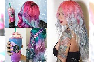 Unicorn Frappuccino Hair to hit na Instagramie! Zobacz, jak wyglądają włosy w kolorze... napoju!