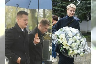 Pogrzeb Witolda Pyrkosza. Aktorzy z