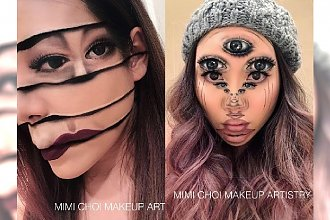 To nie są zwykłe makijaże! Ona robi najbardziej zwariowane iluzje optyczne, jakie kiedykolwiek widzieliście!